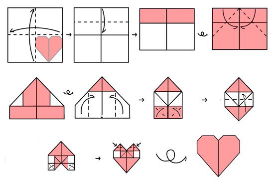 оригами схема бомбочка