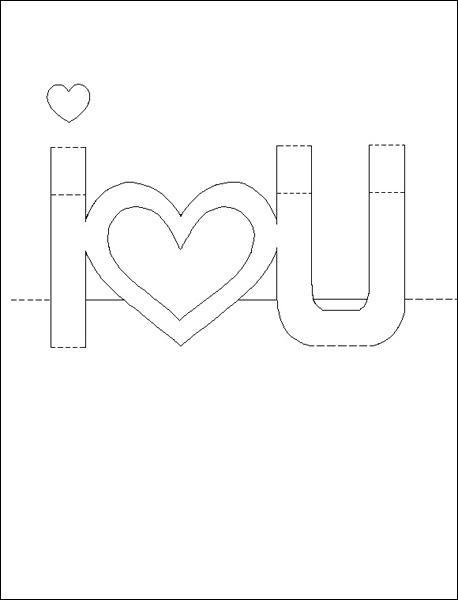 I love you своими руками из бумаги